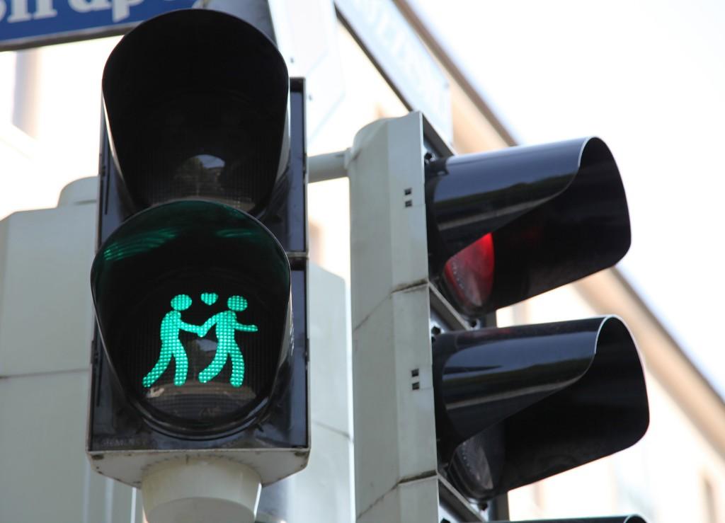 Grünes Licht für Münchner Ampelpärchen
