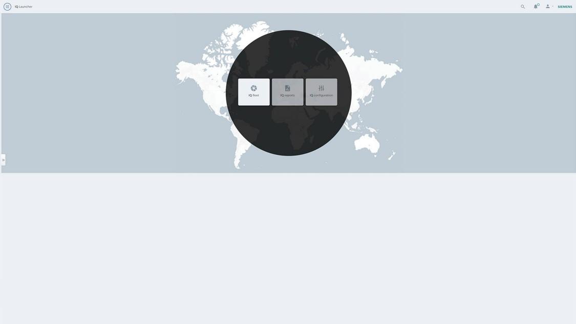 Screenshot SIDRIVE IQ MindSphere applications