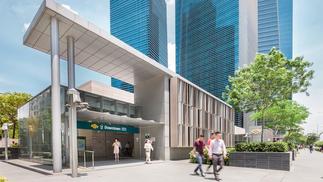 Station der Downtown Line in Singapur