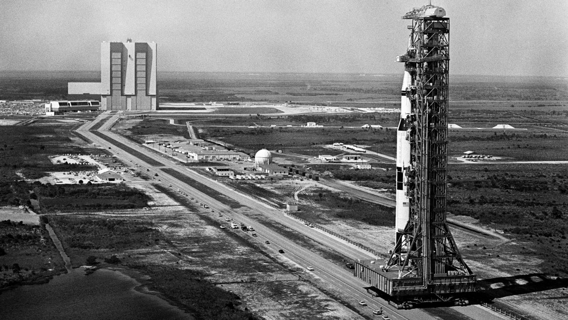 Saturn V with Apollo 10 spacecraft, 1969 (NASA)