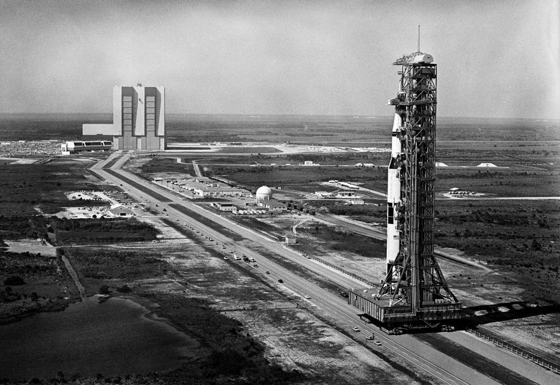 Saturn V ,mit Apollo 10 Raumschiff, 1969 (NASA)