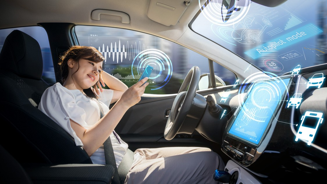 Smartphone user in a self-driving car: Our mobile society is facing what is maybe the biggest paradigm change since the Fort Model-T .