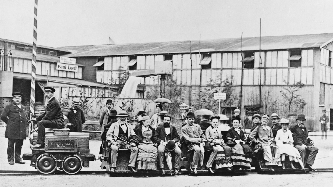 first electric railway in 1879