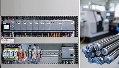 Logo! 8 kommuniziert mit dem Gebäudeleitsystem und wertet von Sensoren gemessene Parameter wie Temperatur, Kohlenstoffdioxid-Gehalt und Partikel in der Luft aus für eine optimale Klimatisierung.  Von der optimalen Hallenbelüftung profitieren sowohl die Mitarbeiter als auch die Qualität der Fertigung.