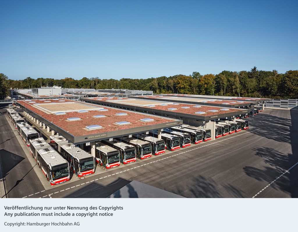 Siemens technology becoming part of state-of-the-art bus depot in Hamburg