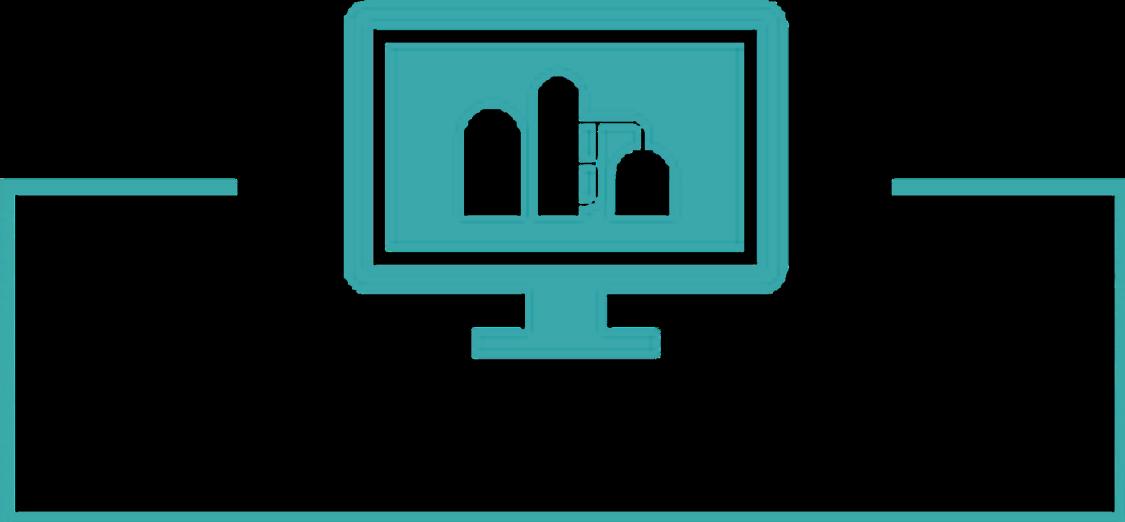 Piktogramm von Optimierung vor der Inbetriebnahme des Digital Enterprise in der Prozessindustrie