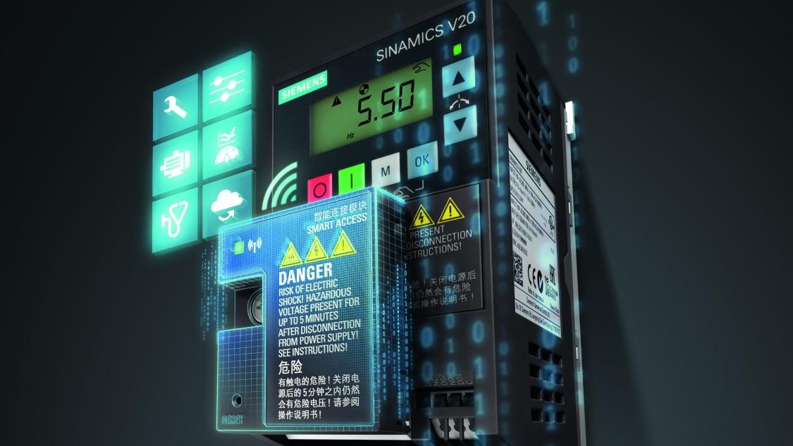 SINAMICS V20 beüzemelése Smart Access Modullal