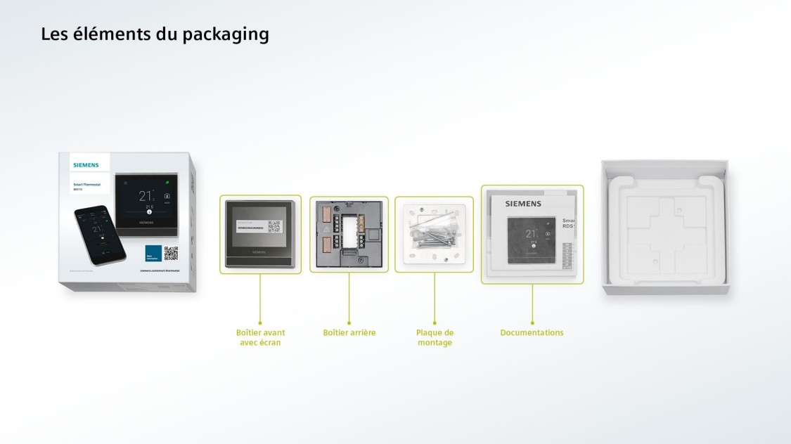 Que compose le packaging du thermostat intelligent?