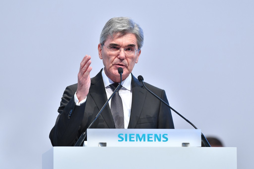 Annual Shareholders' Meeting 2018 of Siemens AG at the Olympiahalle in Munich, Germany
