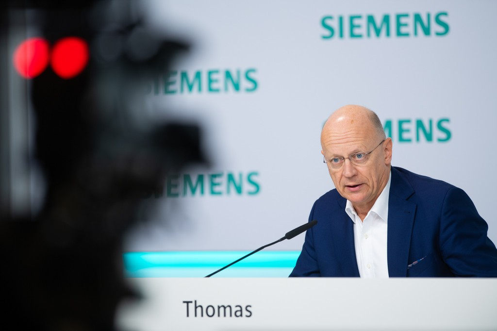 Ralf P. Thomas, Chief Financial Officer of Siemens AG, comments on the business figures for fiscal 2020 at the virtual Annual Press Conference on November 12, 2020, at Siemens headquarters in Munich, Germany.