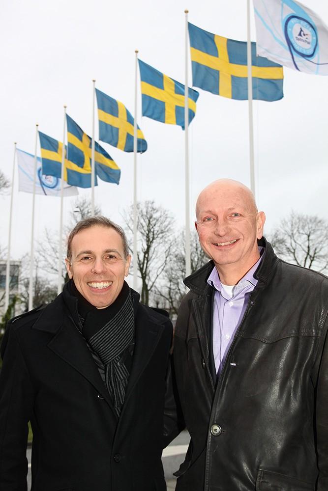 Fabio Perna, teknisk expert inom Food & Beverage på Siemens i Tyskland, och Anders Thulin, Corporate Account Manager på Siemens.