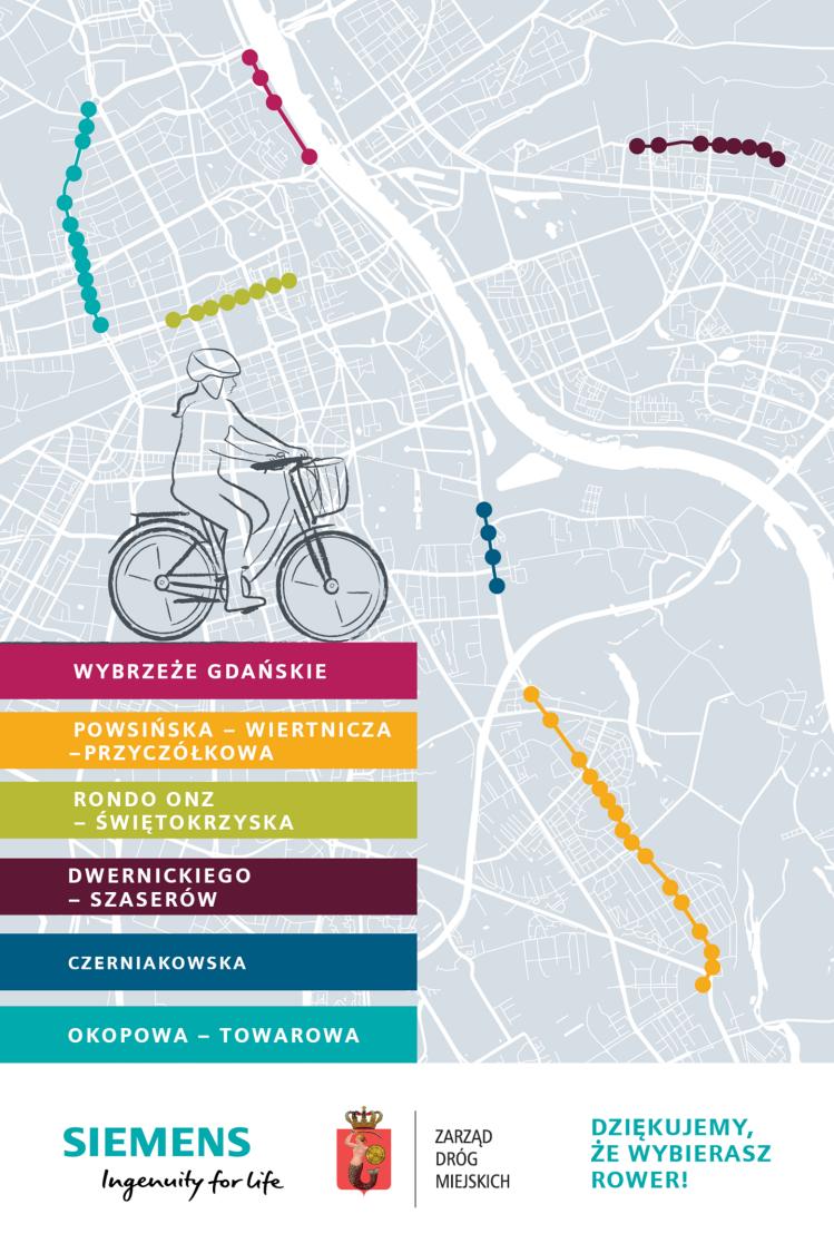 Totemy rowerowe - mapa