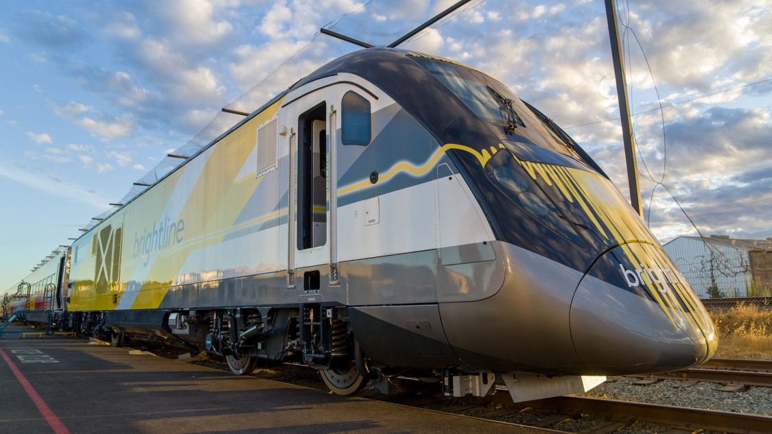 Brightline Train in Sacremento