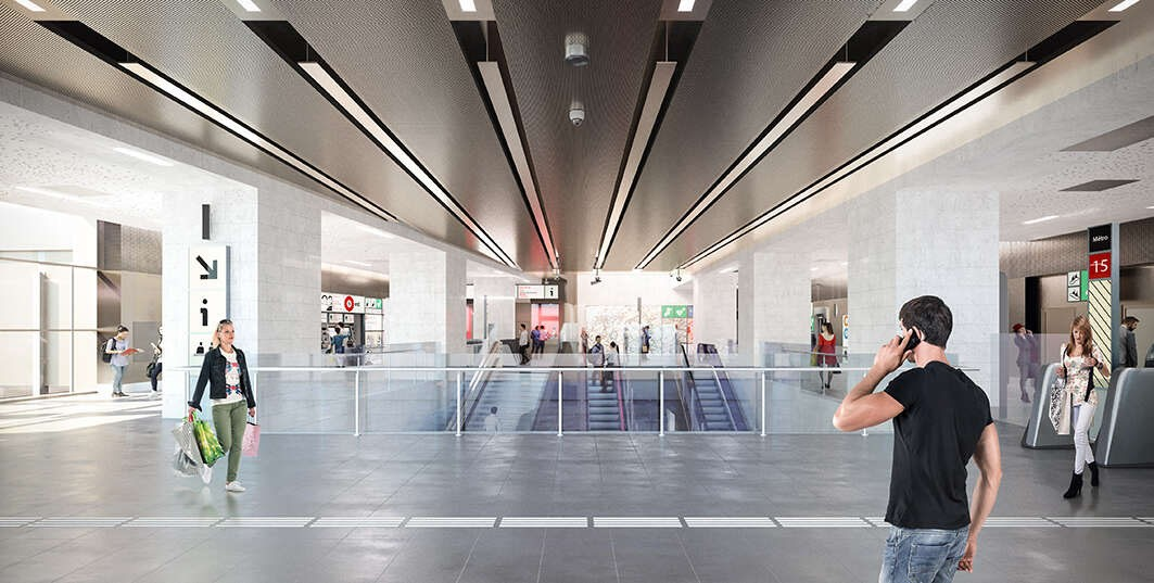 Perspective 3D de la gare de Le Vert de Maisons