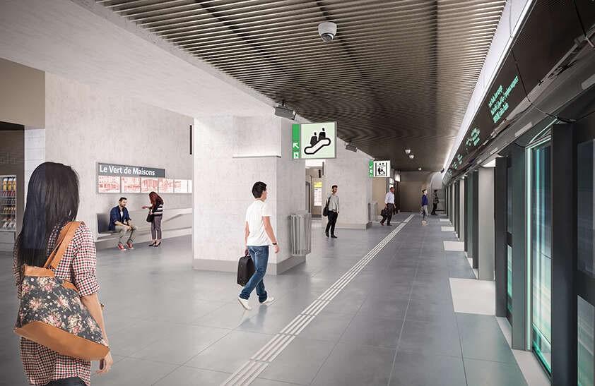 Perspective 3D de la station Le Vert de Maisons