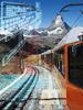 Gornergratbahn fährt durch die Alpen