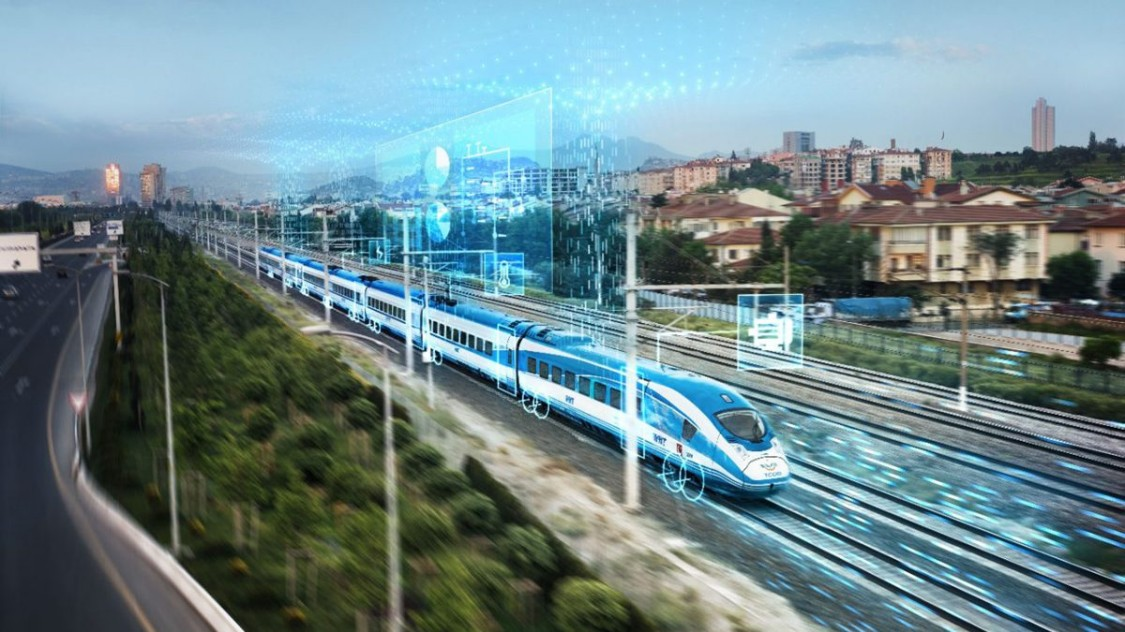 Key visual for the digital service Railigent from Siemens Mobility Rail Services