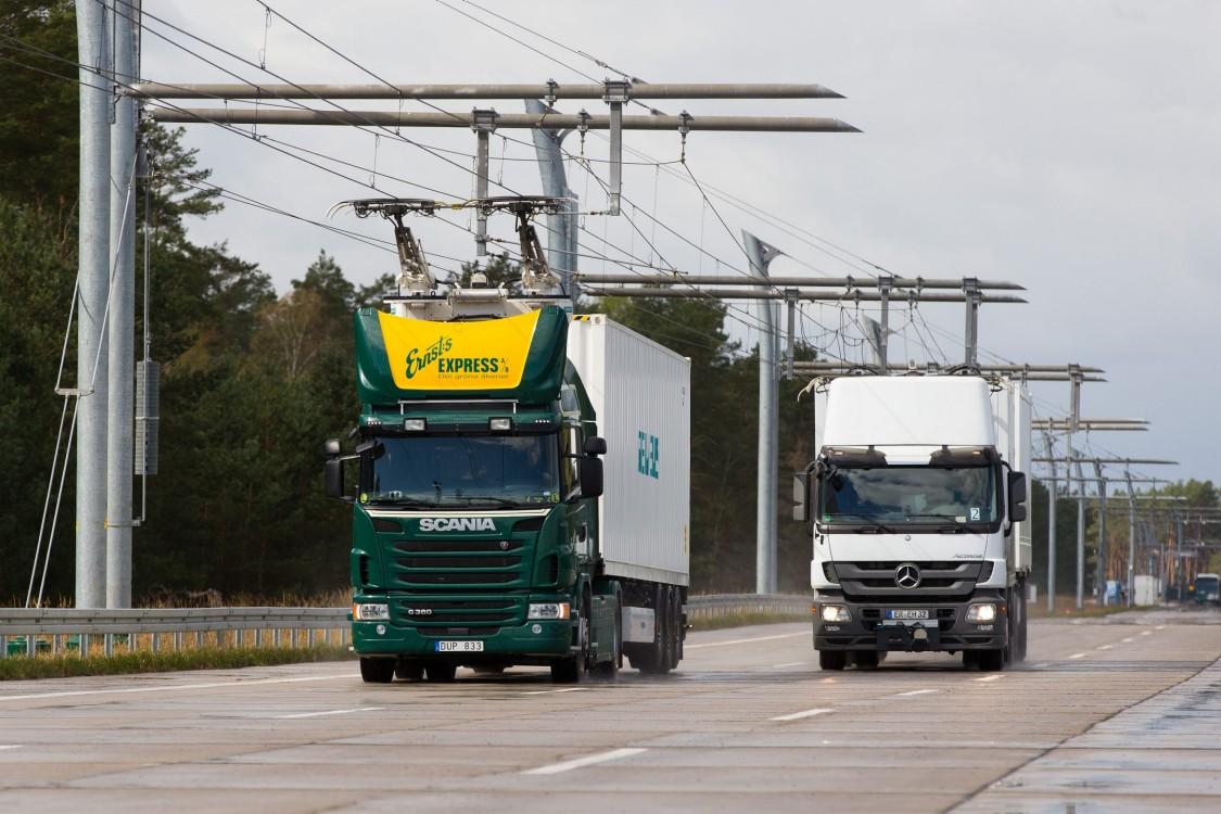 Elektriskās šosejas kravu automašīnām