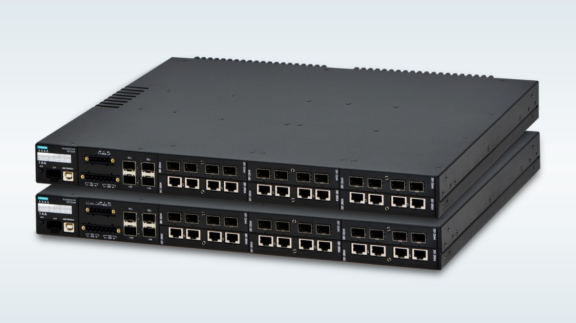 RUGGEDCOM RST2228 and RST2228P rack mount layer 2 ethernet switches