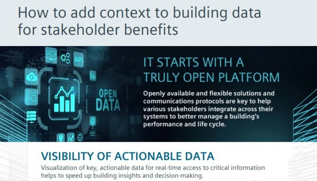 Desigo Optic stakeholder benefits infographic