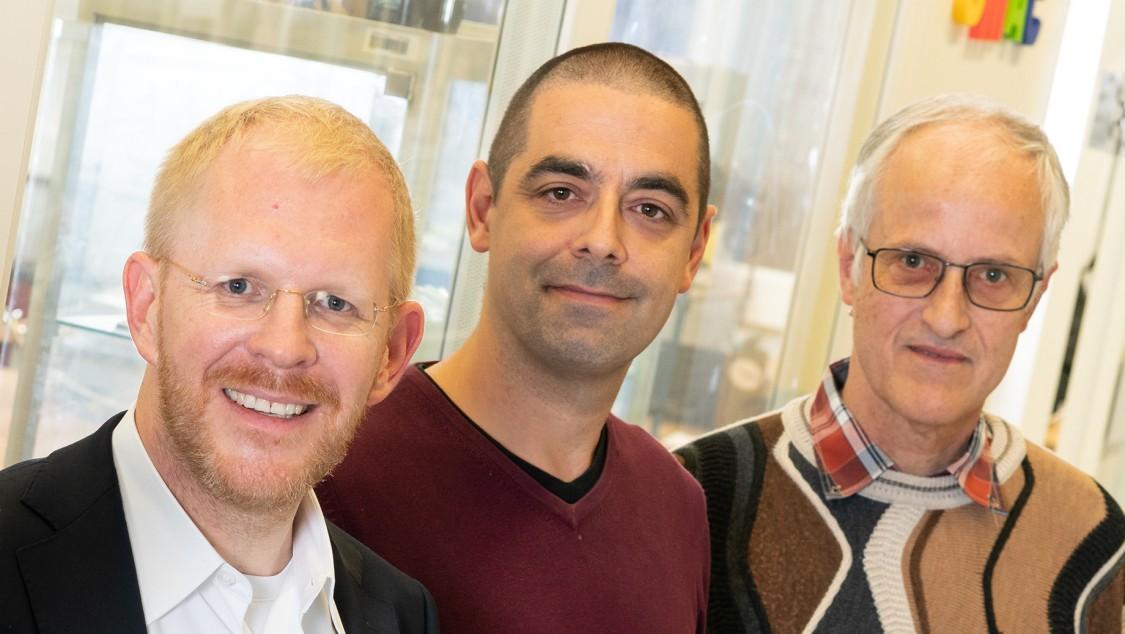 Christoph Kiener (links) mit Dirk Hartmann und Meinhard Paffrath.