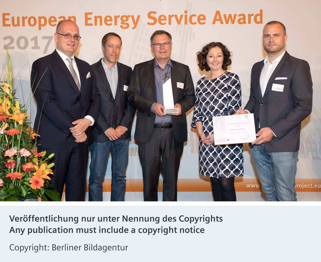 Siemens receives 2017 European Energy Service Award