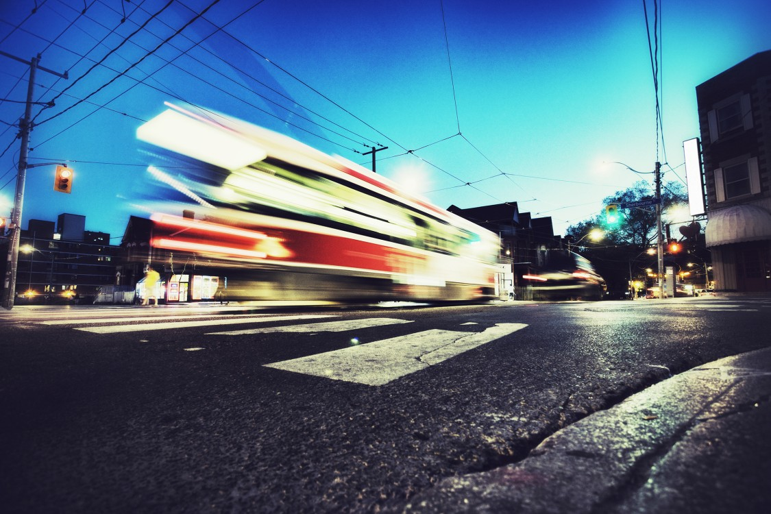 Light Rail Vehicle blurred out in Canada