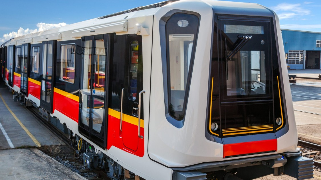 A Siemens Mobility metro train in Warsaw.