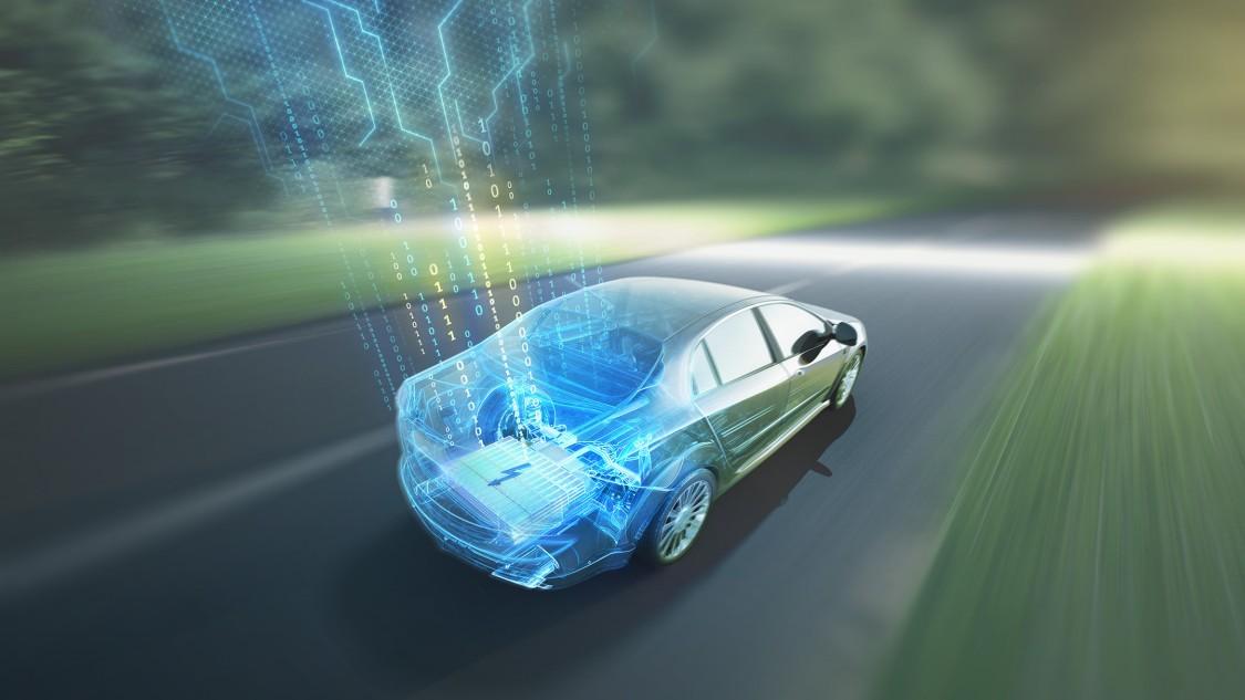 Gas-electric hybrid car Keyvisual