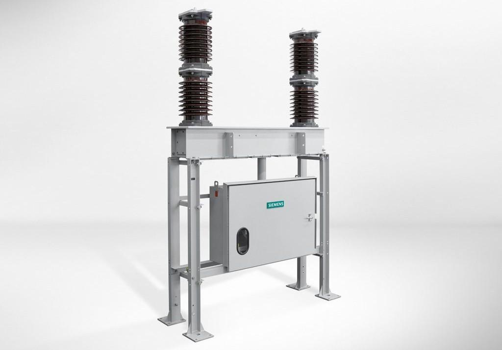 Disjuntores a vácuo 3AF04/3AF05 da Siemens para fonte de alimentação de tração CA.