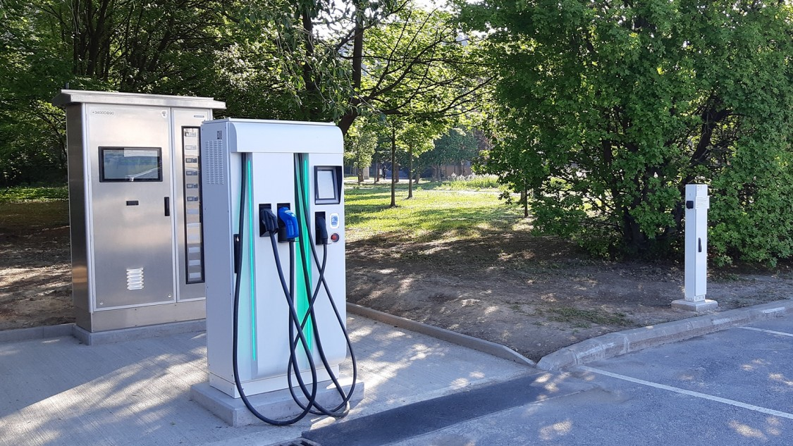Microdgrid mit Elektromobilitäts-Ladeinfrastruktur
