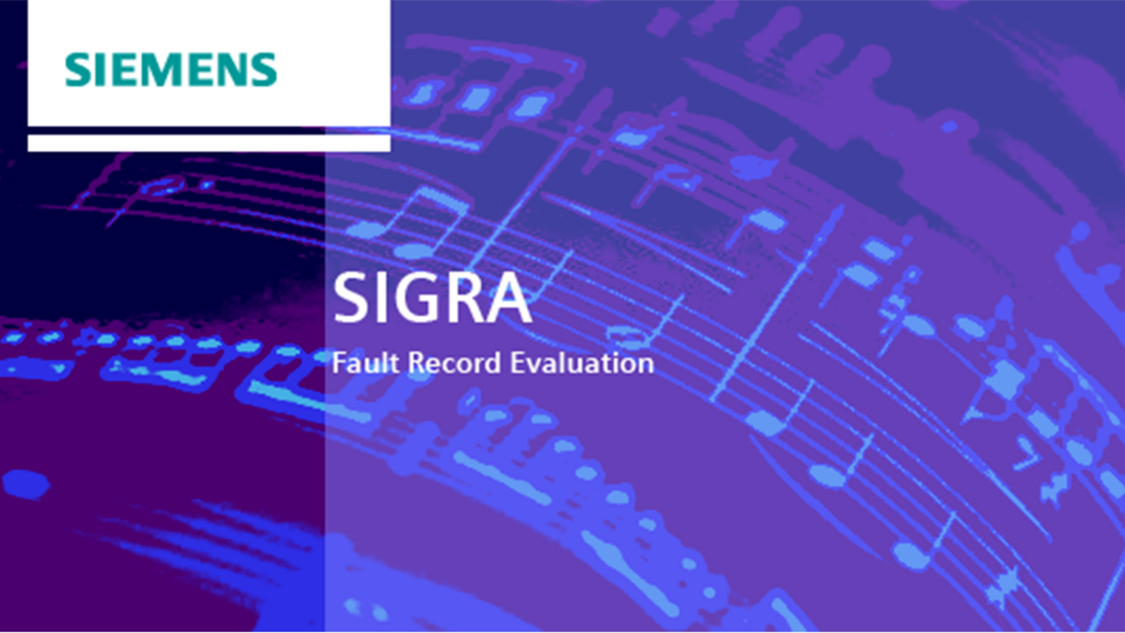 Fault record evaluation – SIGRA
