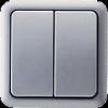 срібний / двоклавішний вимикач