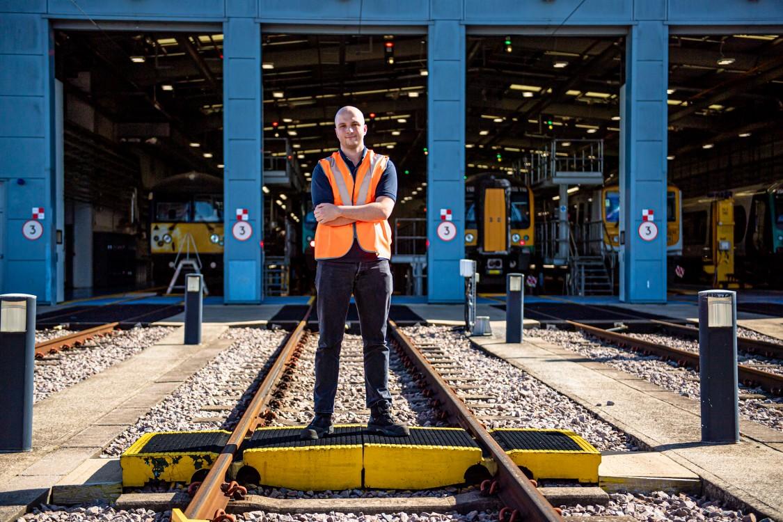 Toby digitally monitors our train fleet