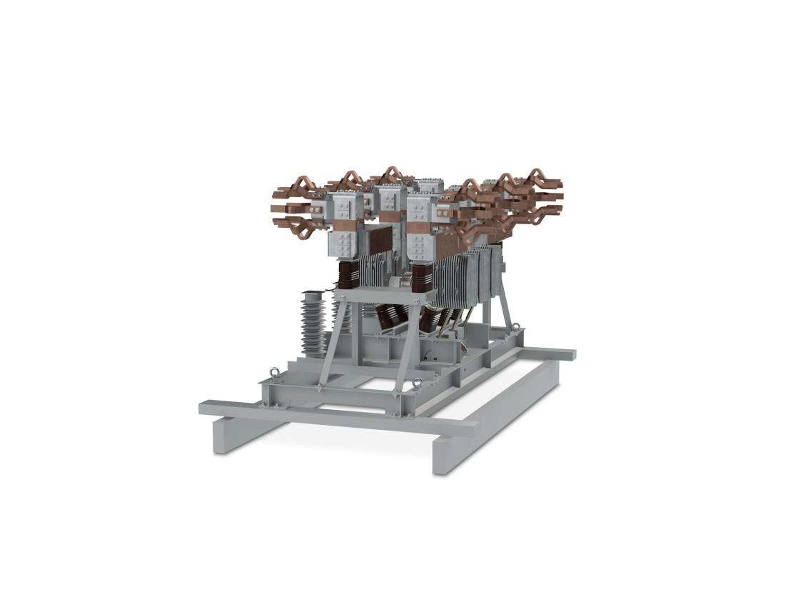 Medium-voltage, vacuum, generator circuit breaker retrofit plug-and-play solutions