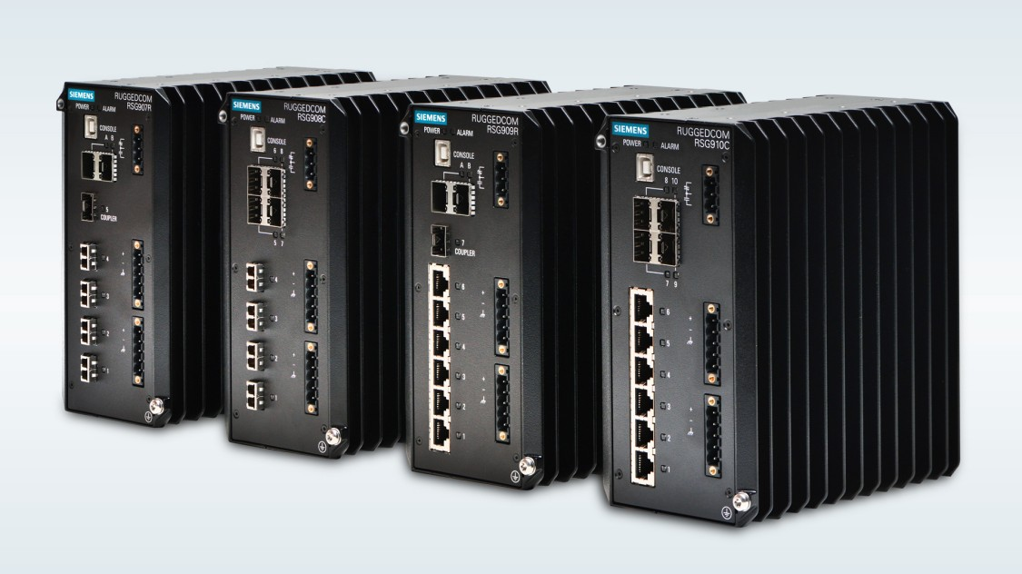 RUGGEDCOM RSG910C compact Gigabit Ethernet switches