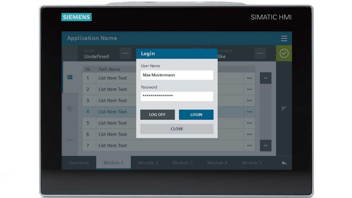 Screenshot with login screen