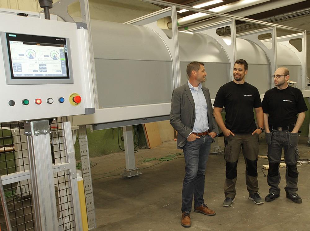 Christoffer Höglund är kundansvarig på Siemens, Robin Vestner jobbar med F&U på Absolicon och Ramez Shabani är mjukvaruingenjör på Absolicon.