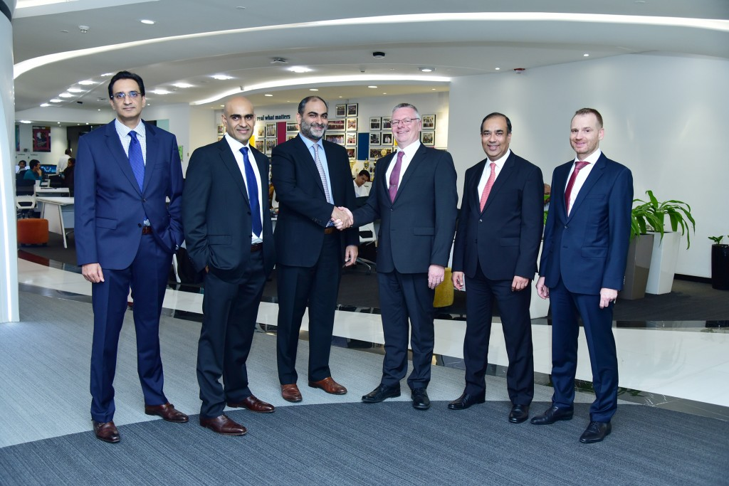From left to right, Mr. Anuj Khanna, Managing Director, C&S Electric, Mr. Aditya Khanna, Managing Director, C&S Electric, Mr. Rishi Khanna, Managing Director, C&S Electric, Mr. Andreas Matthé, Chief Executive Officer, Low Voltage Products, Siemens AG, Mr. Sunil Mathur, Chief Executive Officer, Siemens India and Dr. Daniel Spindler, Chief Financial Officer, Siemens India