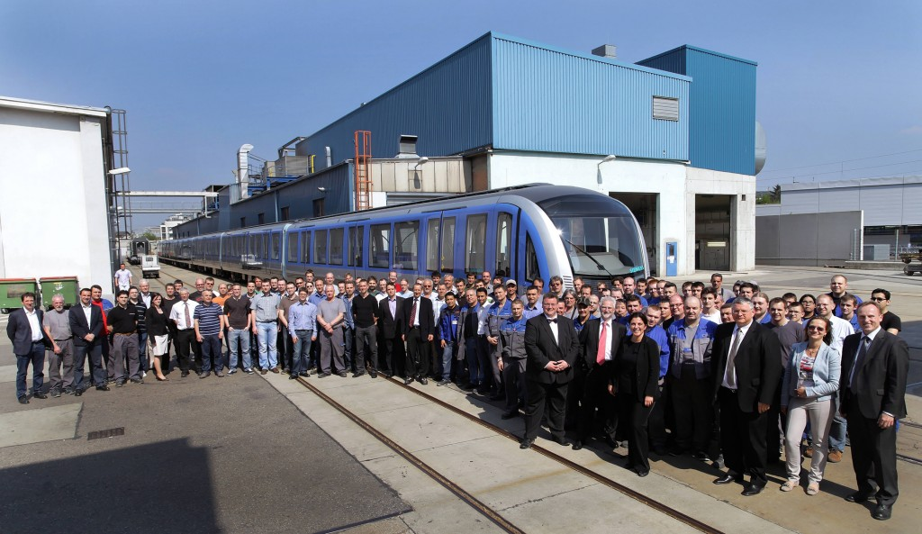 First Munich metro train leaves the Vienna plant