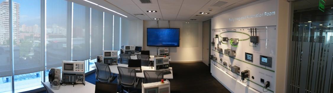 Sala Totally Integrated Automation, ubicada en Cerro El Plomo 6000. Las Condes Santiago.