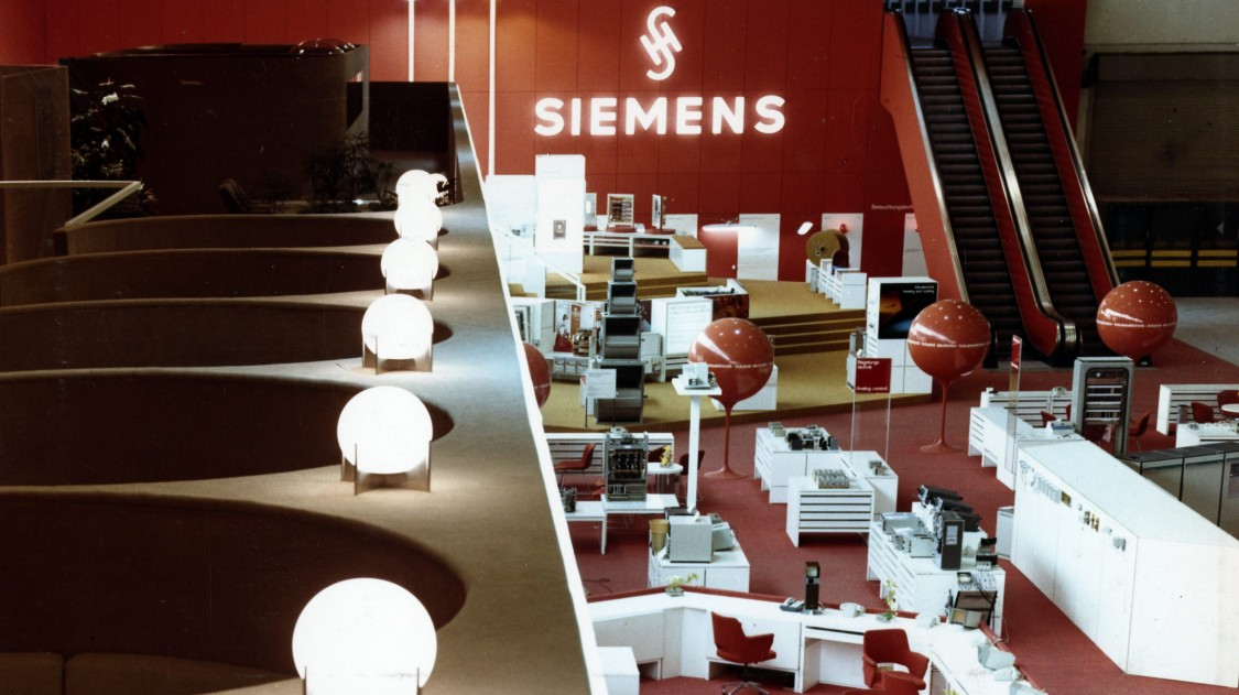 Siemens-Stand Hannover Messe, 1970