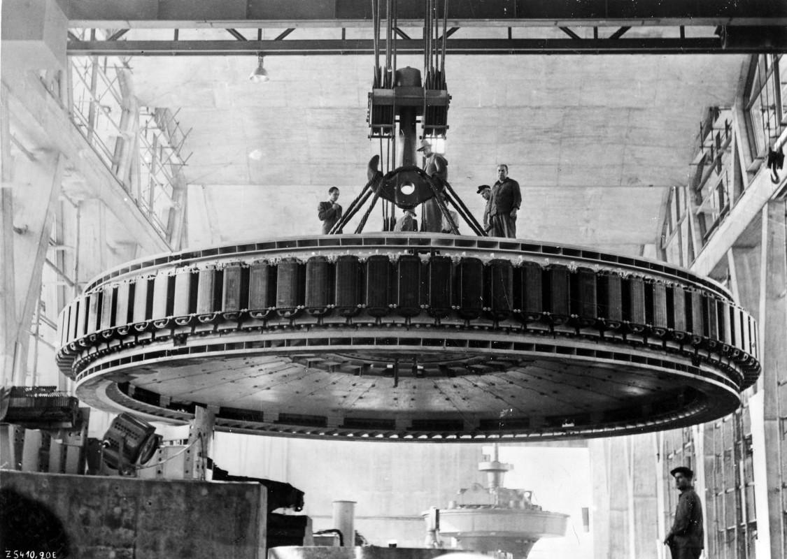 Technisches Schwergewicht – Der Generatorläufer für das Kraftwerk Birsfelden, 1955