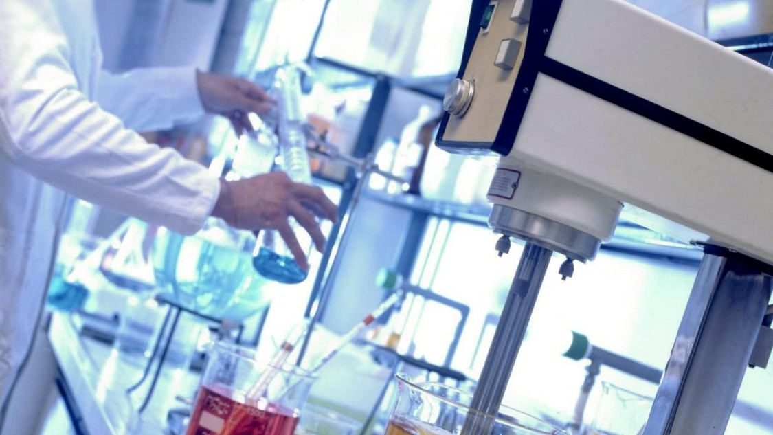laboratory equipment in use