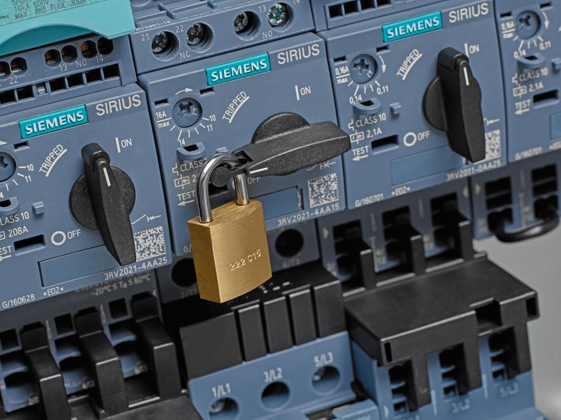Integrierte Abschließvorrichtung des Leistungsschalter 3RV2