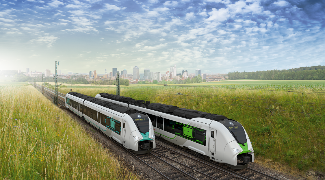 battery and hydrogen train mireo plus