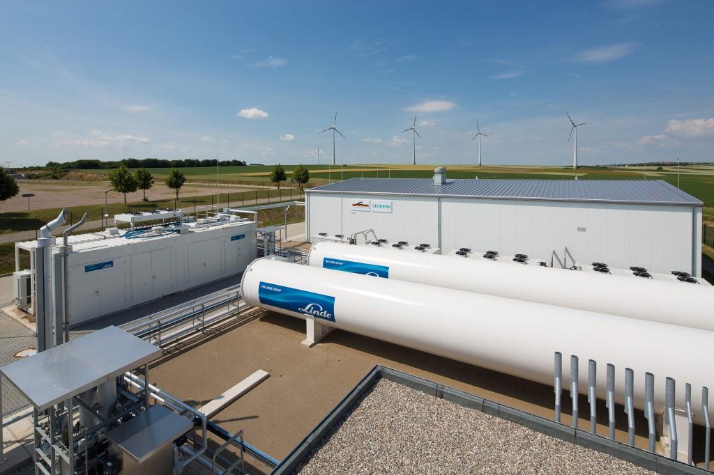 Aus überschuessigem Windstrom wird Gas
