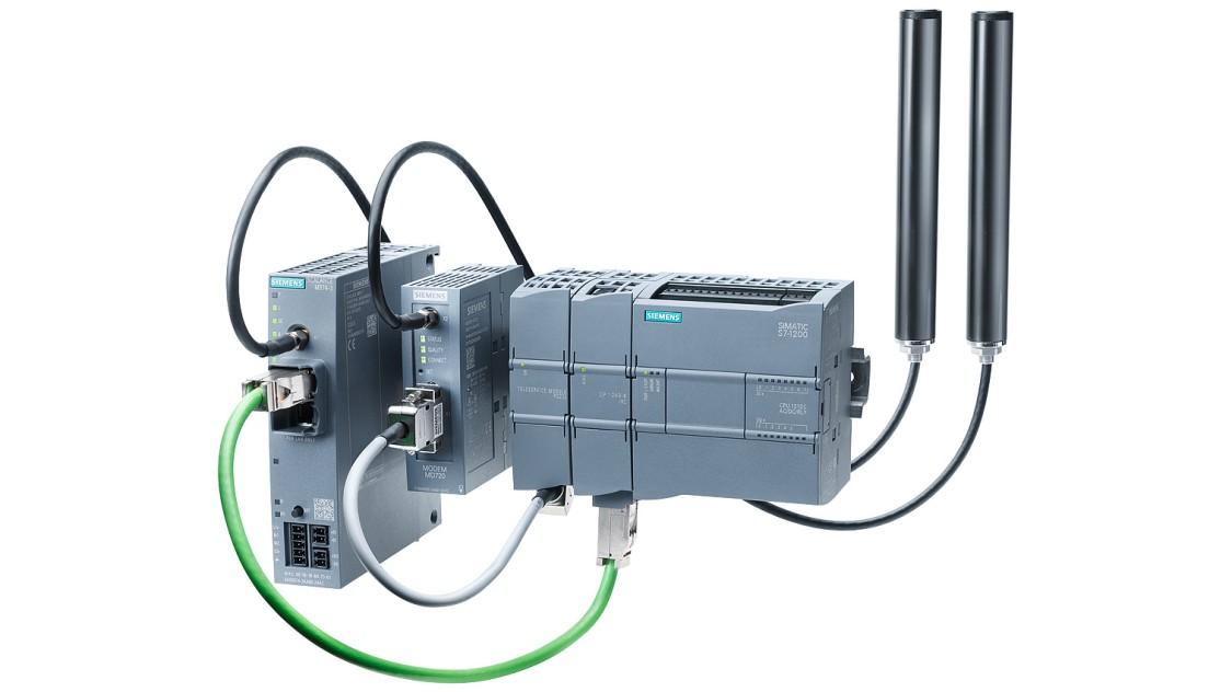 Bild einer modularen Fernwirkstation mit SIMATIC S7-1200