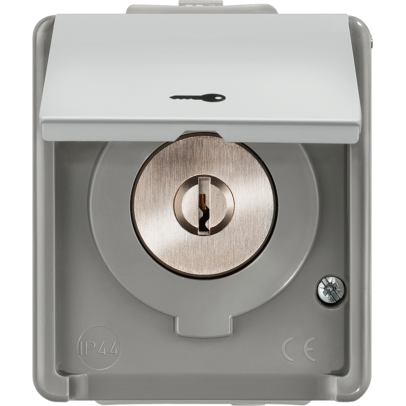 Вимикач з ключем, з кришкою / шторкою IP44