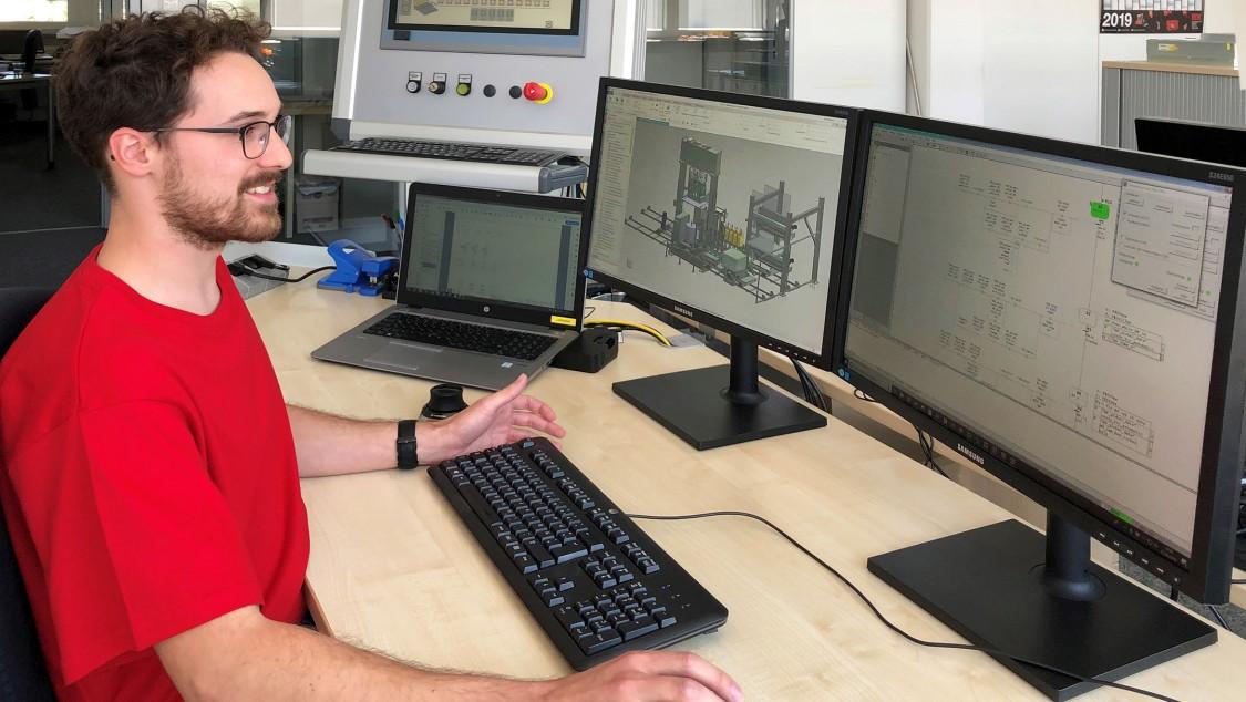 Simulationsaufbau im Büro